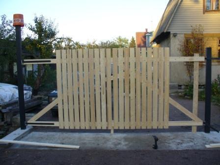 Ворота из досок фото